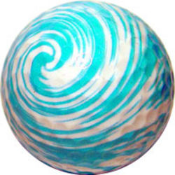 Blue Swirl Golf Ball