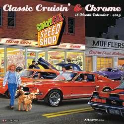 Classic Cruisin and Chrome Wall Calendar