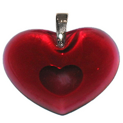 Crystal Red Heart to Heart Pendant