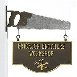Personalized Workshop Plaque & Saw Bracket