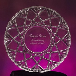 Personalized Crystal Anniversary Platter