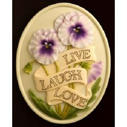 Live Laugh Love Welcome Plaque