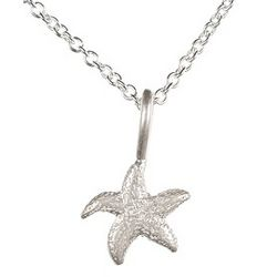 Life's a Beach Sterling Silver Starfish Charm Necklace