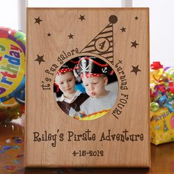 Personalized Birthday Party Hat Picture Frame