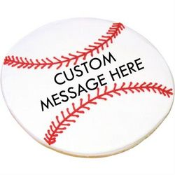 Personalized Giant Baseball Ball Cookie