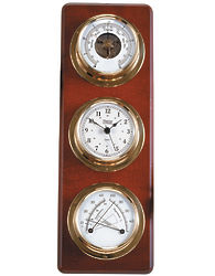 Weather Station and Clock Plaque