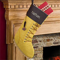 Personalized Work Boot Christmas Stocking