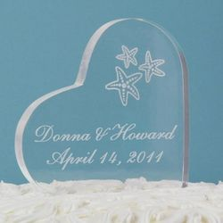 Starfish and Heart Cake Topper