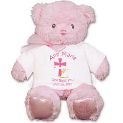 Personalized God Bless Pink Bear