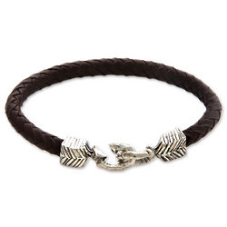 Men's Rugged Aesthetics Leather Braided Bracelet