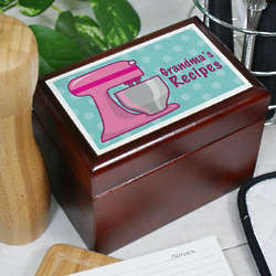 Personalized Metro Mixer Recipe Card Box