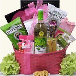 Flip Flop Pinot Grigio Wine Gift Basket