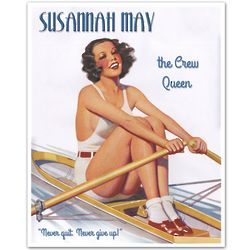Rowing Pin-Up Personalized Print