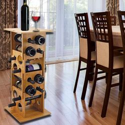 Stackable Bamboo Wine Rack Side Table