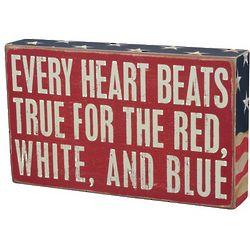 Every Heart Beats True Box Sign