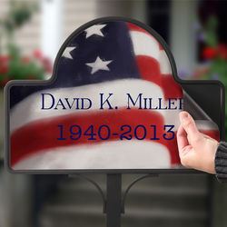Personalized American Flag Memorial Stake Magnet