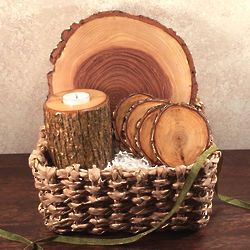 Woodman's Chest Gift Set in Wicker Basket