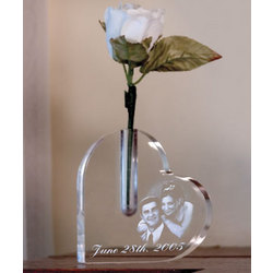 Personalized Heart Photo Vase