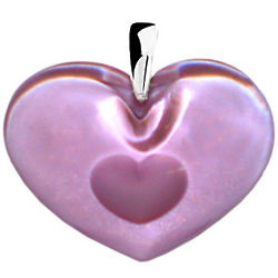 Crystal Pink Heart to Heart Pendant
