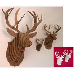 Animal Friendly Cardboard Deer Bust