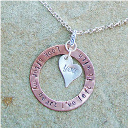 Copper & Sterling Look After My Heart Hand-Stamped Necklace