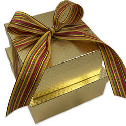 3 Dozen Sugar Free Cookies Gold Gift Box