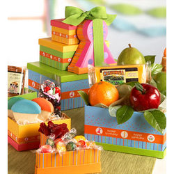 Fruit and Nut Birthday Gift Tower