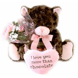 """Love You More Than Chocolate"" Plush Bear"