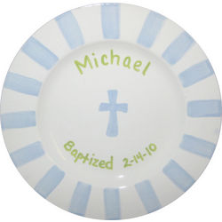 Personalized Boy's Baptism Plate