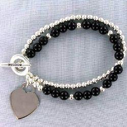 Black Agate Wisdom Bracelet