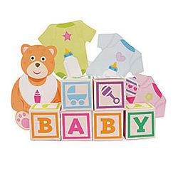 Baby Bear Centerpiece Favor Boxes