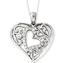Daughter's Sterling Silver Forever in My Heart Necklace