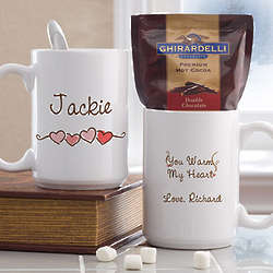 Personalized Large Mug and Hot Cocoa Gift Set