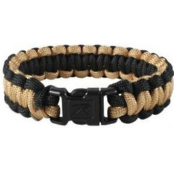 Coyote Brown and Black Paracord Bracelet