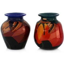 Time Out Hand Painted Ceramic Vases