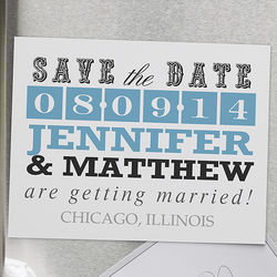 Lucky in Love Personalized Save the Date Magnets