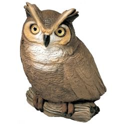 Handpainted Owl Sculpture