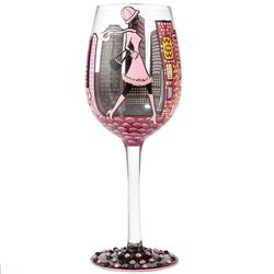City Life Wine Glass