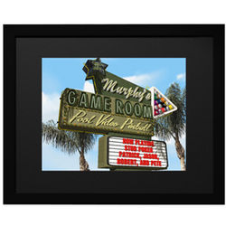 Personalized Game Room Sign Framed Print