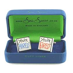 You're Hired - You're Fired Cufflinks