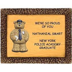 Personalized Plaque for Police Academy Graduate