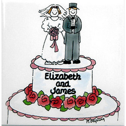 Personalized Ceramic Cake Tile