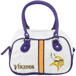 Minnesota Vikings Ladies White Bowler Purse