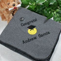 Graduation Fleece Throw Blanket