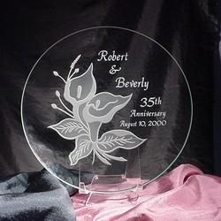 Personalized Calla Lily Anniversary Plate