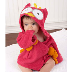 My Little Night Owl Pink Hooded Terry Spa Robe