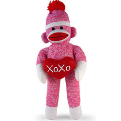 XOXO Pink Sock Monkey