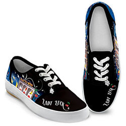 Lady Luck Slot Machine Art Shoes