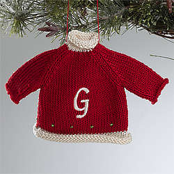 Personalized Red Christmas Sweater Ornament