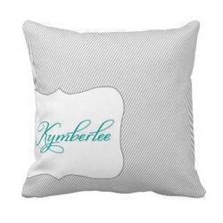 Personalized Classic Pin Stripe Pillow